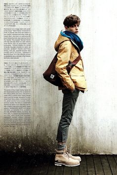 Visvim is one of those brands most people either love or hate. While I don't love everything the brand's designer, Hiroki Nakamura, creates; Mode Masculine, Hiroki Nakamura, Poses, Cute Summer Outfits, New Image, Style Me, Fall Winter, Autumn, Winter Coats