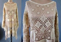 Vintage 1930's lace does 1970's does by foreverlovelyvintage, $65.00