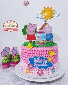 Bolo Super Man, Tortas Peppa Pig, Diy Birthday Decorations, Pig Party, Cake Toppers, Cake Decorating, Birthday Cake, Chocolate, Desserts