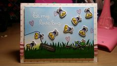 Card by Claire Morrison: Lawn Fawn Bugs & Kisses; inspired by butterflyreflectionsink
