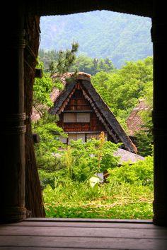 Traditional farmhouse,Shirakawago Japan