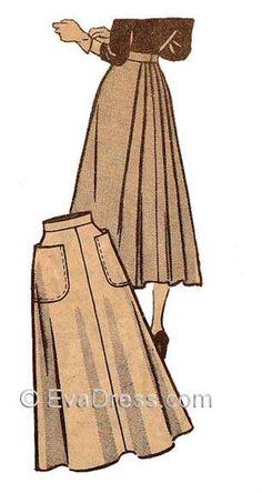 Vintage Sewing Patterns, Clothing Patterns, Dress Patterns, Pattern Skirt, Vintage Skirt, Vintage Dresses, Vintage Outfits, Sewing Clothes, Diy Clothes