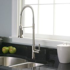 Premier Essen Pull-Down Brushed Nickel Kitchen Faucet - Overstock™ Shopping - Great Deals on Premier Kitchen Faucets