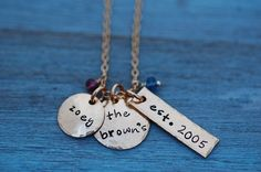 Gold Family Necklace. Great for a new mom! #jewelry #mothersday Mother's Day Jewelry