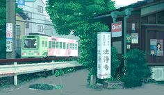 gif animation japan pixel art - beautifully captured daily life in Japan - train Vaporwave, Pixel Art, Aesthetic Gif, Aesthetic Wallpapers, Animation Pixel, Art Magazin, Arte 8 Bits, Art Tumblr, 8 Bit Art