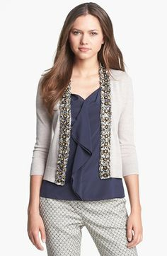 83058663e7e Tory Burch  Rosalind  Embellished Cardigan available at  Nordstrom  Sweaters