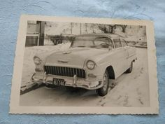 Retro BW private winter photo with Chevrolet 1958 Chevrolet Usa, Chevrolet Impala, Impala Car, Station Wagon Cars, Line Photo, Guy Friends, Winter Photos, General Motors, Log Homes