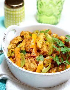 Chicken Jalfrezi w/ Green Tomatoes #Indian food #curry #jalfrezi #chicken curry #green tomatoes