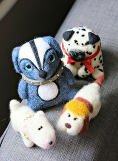 Cute felted dogs