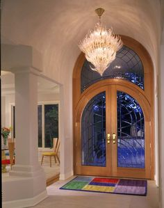 Arched Double Front Doors estate arched top exterior wood front entry doors dbyd-1035
