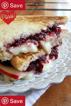 DIY Brie Apple and Cranberry Grilled Cheese - Ingredients Vegetarian Produce 1 Honeycrisp apple medium slices thin Condiments cup Berry cranberry sauce whole Bread & Baked Goods 4 Sturdy slices sourdough bread Dairy 4 tbsp Butter 8 oz Of brie wedge Beer Wine & Liquor 1 750ml. bottle Barefoot sauvignon blanc #delicious #diy #Easy #food #love #recipe #recipes #tutorial #yummy @mabarto - Make sure to follow cause we post alot of food recipes and DIY we post Food and drinks gifts animals and…