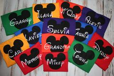 Family Mickey Applique shirt by SewciallyChic on Etsy, $17.95