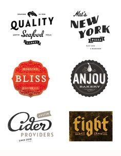 """{I'm pretty sure """"modern vintage"""" is an oxymoron, but I like these logos! maybe not for myself... but something about them feels nice to me. *KR} Simon Walker"""