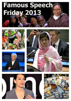 The Eloquent Woman: 2013's top 10 Famous Speech Friday posts on The Eloquent Woman