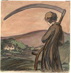 """Time,"" by Pamela Colman Smith(1907)"