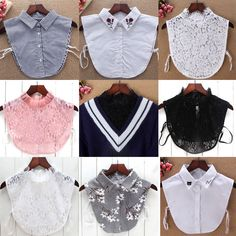 Other Women's Accessories Women Blouse False Collar Clothes Shirt Detachable Collars Lace Floral 2018 Fashion Sewing, Diy Fashion, Ideias Fashion, Lace Outfit, Shirt Outfit, Collar Shirts, Shirt Blouses, Sewing Collars, Half Shirts