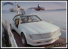 """Sbarro - Mercedes SEC Gullwing """"Shahin"""" Mercedes Sec, Mercedes W126, Mercedes Benz Cars, Future Concept Cars, Future Car, Swiss Cars, Mercedes Concept, Porsche 928, Benz S"""
