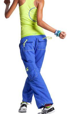 zumba cargo pants - blue