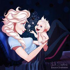 Imagens das Princesas Disney como mamães por Isaías Stephens