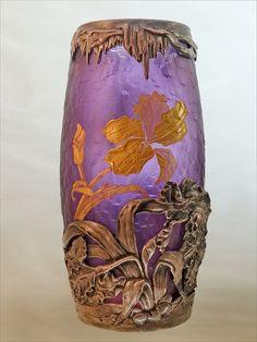Vase de style art nouveau, début 20ème siècles (auteur non communiqué, école de Nancy ?) Musée du château de Trakai
