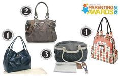 Parenting Awards finalists: Diaper bags Parenting Awards diaper bags<br> Learn all about the four diaper bags that made the cut and are finalists in the 2012 SheKnows Parenting Awards. Vote for your favorite!