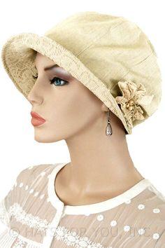 Ivory Linen Cloche