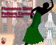 Flamenco Skirt Pattern Carmen | Flamenco Dressmaking