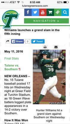 04c98d55a2d16 Grand Slam!!! Rhonda Freeman · Tulane Baseball ...