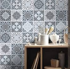 Tile Stickers - Tile Decals - Backsplash Tile - Vintage Blue Gray - Tiles for Kitchen - Tiles for Bathroom - PACK OF 32 To view more Art that will look gorgeous on Your Walls Visit our Store: Grey Floor Tiles, Blue Tiles, Grey Flooring, Gray Floor, Floor Graphics, Decorative Wall Tiles, Tile Decals, Wall Decor Quotes, Portuguese Tiles