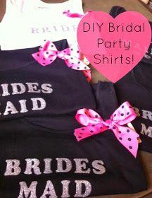 *Life's a Beach*: DIY Bridal Party Shirts