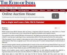 Not a single work was a fake, Bid & Hammer: The Echo of India, 1st April 2015