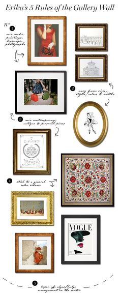HOW TO Build a Gallery Wall (5 Rules) | Erika Brechtel | Brand Stylist