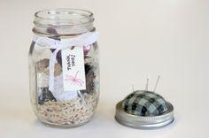 Mason jar sewing kit by Sebsgrammy