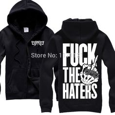 ">> Click to Buy << Free shipping  ESCAPE THE FATE ""HATERS"" med band punk Alternative Rock metal free shipping popular n Black Hoodie #Affiliate"