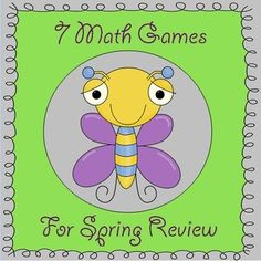 This packet includes 7 fun spring time math games that correspond to several different kindergarten common core standards (listed on each game). Skills include counting on from any number, comparing numbers 0-10, number relationships, ways to make a number, three ways to represent subtraction problems, and subtraction story problems $7.50 kindergartenklub-com