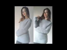 Blusão de Croche parte 1 / Crochet blouse part 1 - YouTube