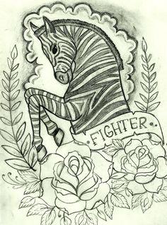 : : Zebra : : Drawn for my mom.... Future tattoo I think...