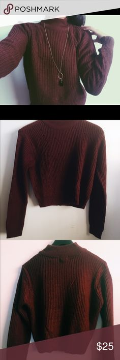 Wet seal sweater High neck and great length to wear with shorts or skirts Aeropostale Sweaters Cowl & Turtlenecks