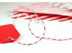 Peppermint Divine Twine -- Red, Pink and White Baker's Twine by Whisker Graphics