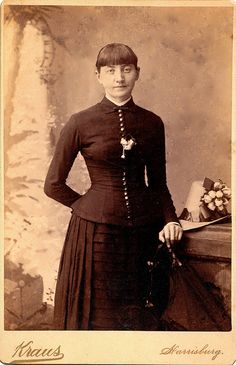 """""""Annie Liggett Bryner, sister of George, Carrie, Laura, and Emma,"""" 1886"""