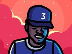 Chance 3 designed by Elias Stein. Connect with them on Dribbble; Chance The Rapper Art, Chance The Rapper Wallpaper, Rap Wallpaper, Cartoon Wallpaper, Chance 3, Vic Mensa, Estilo Cholo, Alphabet Design, Hip Hop Art