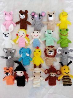 Items similar to Three Little Pigs - Fairy Tale - Amigurumi - Crochet Finger Puppets Set - Finger puppets on Etsy Felt Puppets, Puppets For Kids, Finger Puppet Patterns, Finger Puppets, Crochet Purses, Crochet Toys, Easy Crochet Patterns, Knitting Patterns, Finger Crochet