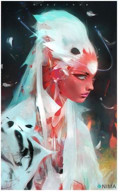 Nima in White, Ross Tran on ArtStation at https://www.artstation.com/artwork/NZeGD