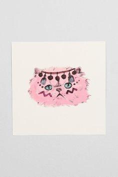 Evie Kemp Spirit Kitty Art Print #urbanoutfitters