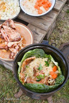 golonka z żeliwnego kociołka Grilling, Food And Drink, Keto, Impreza, Dutch Oven, Chicken, Cooking, Ethnic Recipes, Kitchen