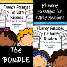 Fluency Passages for Early Readers! In this download you will receive:23 CVC and 18 CVCe word family fluency passages with room for illustrations (great comprehension check!)23 pages of CVC and 21 pages of CVCe word family fluency phrases. Suggestion: Have students highlight the word families!