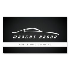 Modern auto detailing, auto repair business card | Business cards