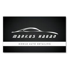 Simple Auto Detailing Business Cards | Auto Detailing Business ...