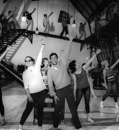 Chitty Chitty Bang Bang rehearsals. Dick Van Dyke