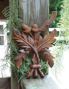 Acorn Crest cast iron garden panel, $28